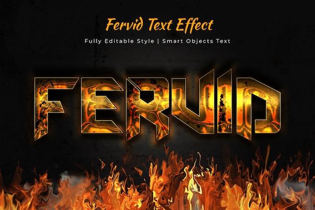 Fervido effetto di testo