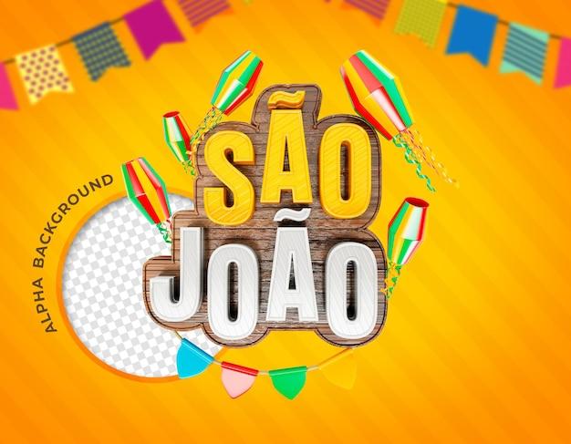 Festas juninas de sao joao brazilië realistische 3d-rendering