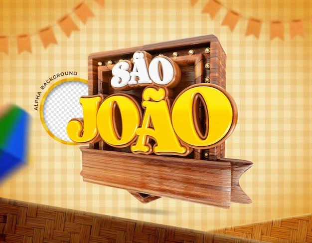 Festas juninas de sao joao brazilië realistische 3d-weergave