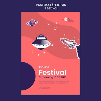 Festival poster sjabloon