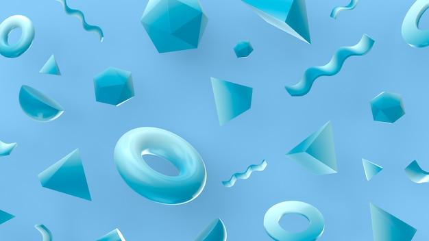 Figuras geométricas en renderizado 3d