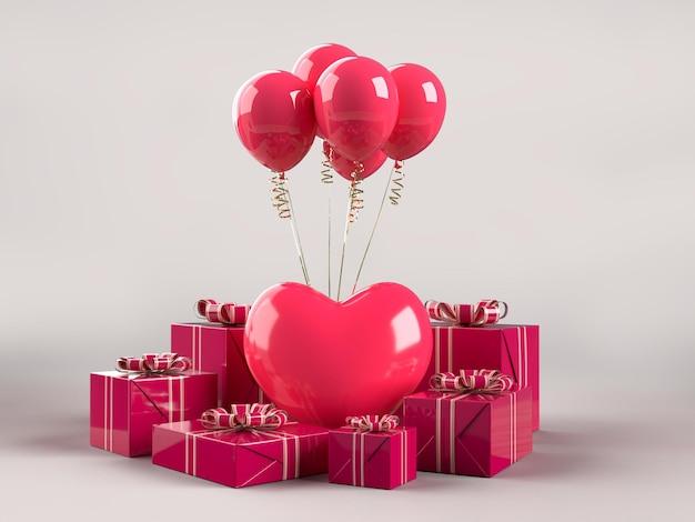 Fijne valentijnsdag be my valentine decorations mockup