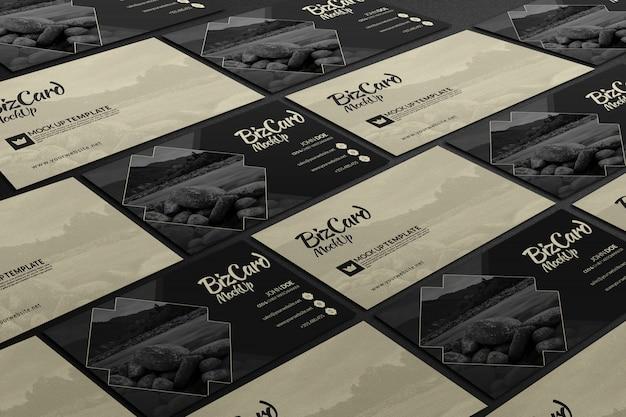 Fila de la presentación de la maqueta de la tarjeta de visita