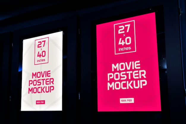 Film posters mock-up