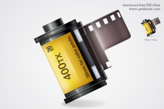 Film roll icon psd