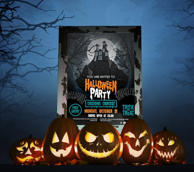 Filmaffiche voor halloween-viering