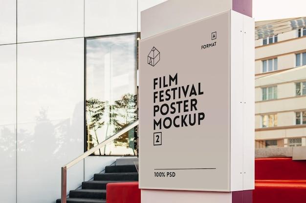 Filmfestival poster mock-up