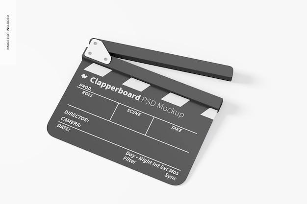 Filmklapper mockup, dropped