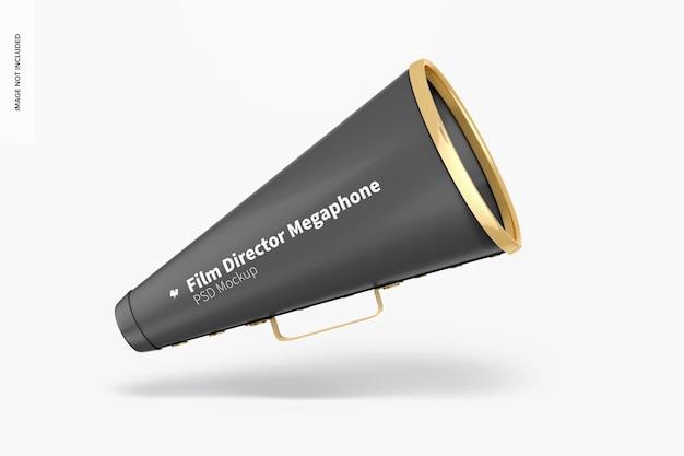 Filmregisseur megafoon mockup, drijvend