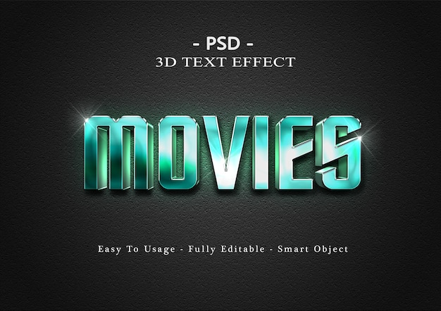 Films 3d teksteffect sjabloon