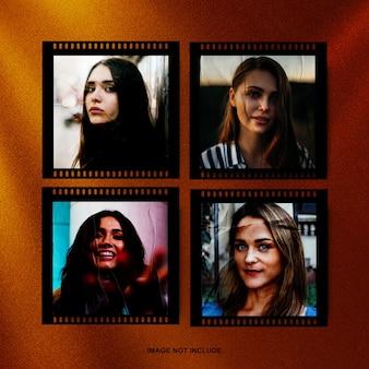 Filmstrip fotolijstmodel met gelijmd effect premium psd
