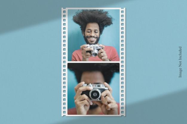 Filmstrip fotomodel met schaduwoverlay
