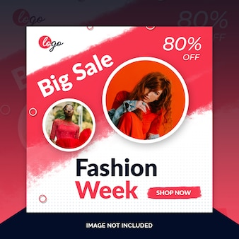 Fin de semana de venta especial de redes sociales banner