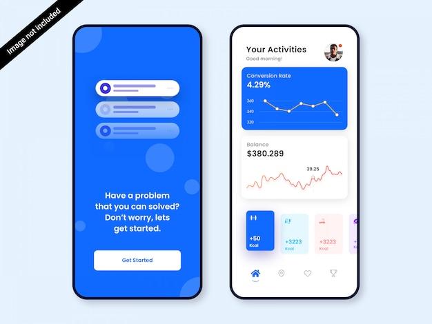 Finance dashboard app ui ontwerp