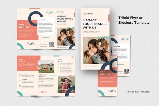 Financiën brochure flyer-sjabloon