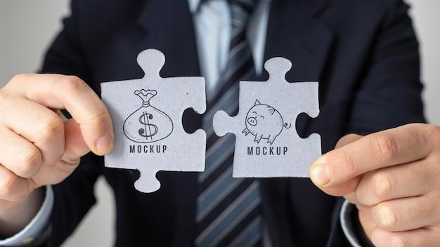 Financieringsregeling met mock-up van puzzelstukjes