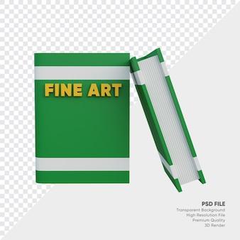 Fine art boek 3d illustratie