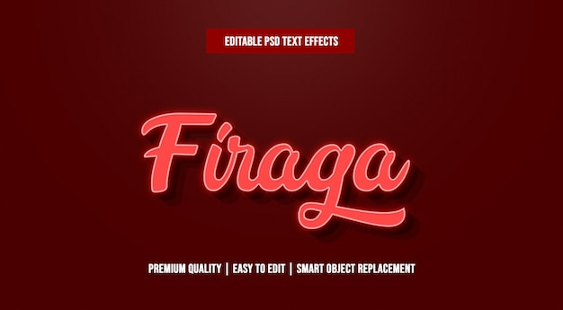 Firaga text effect premium psd