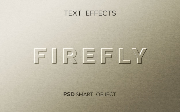 Firefly teksteffect mockup