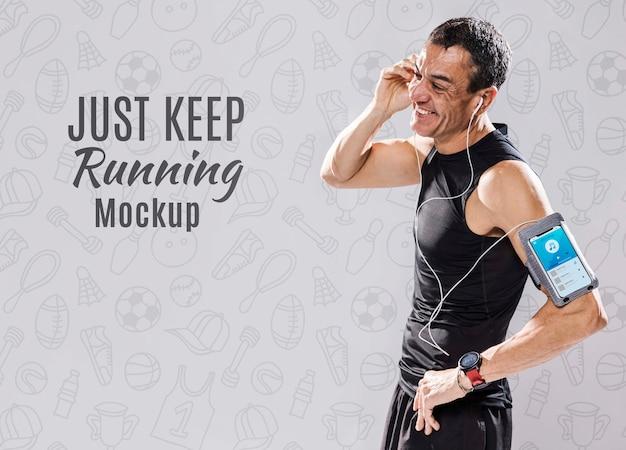 Fit runner con maqueta