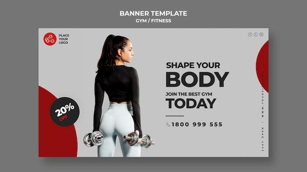Fitness concept sjabloon voor spandoek
