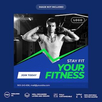 Fitness entrenador personal banner de redes sociales
