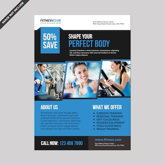 Fitness folder sjabloon
