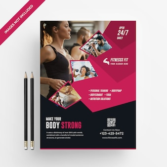 Fitness folder sjabloon