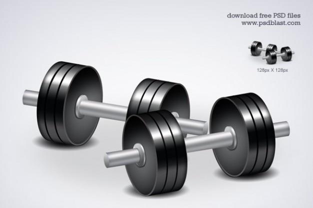 Fitness gratuito icona manubri allenamenti