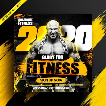 Fitness gym banner ad flyer