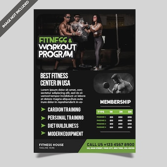 Fitness gym flyer-sjabloon