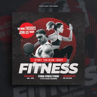 Fitness gym flyer social media post web banner