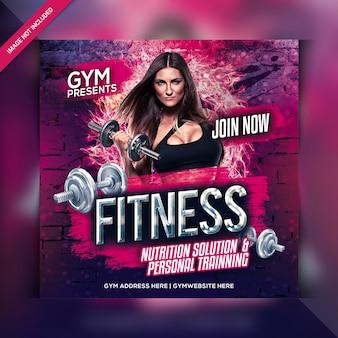 Fitness gym instagram post