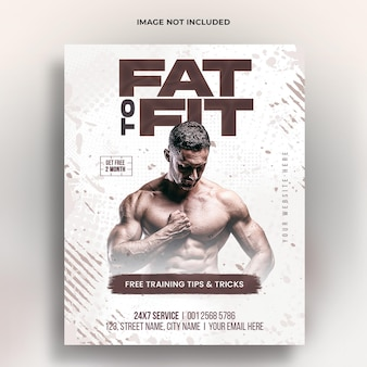 Fitness gym training instagram post en webbanner psd-sjabloon