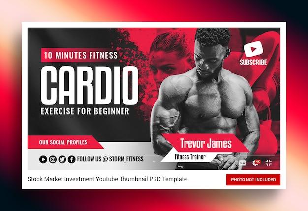 Fitness gym youtube thumbnail en webbanner