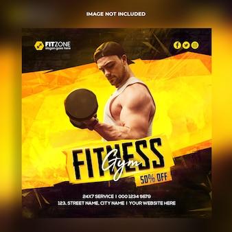 Fitness instagram-sjabloon voor spandoek