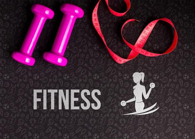 Fitness klasse gewichten en meter