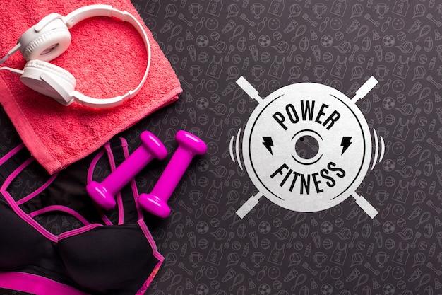 Fitness levensstijl basisuitrusting