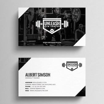 Fitness sjabloon voor visitekaartjes
