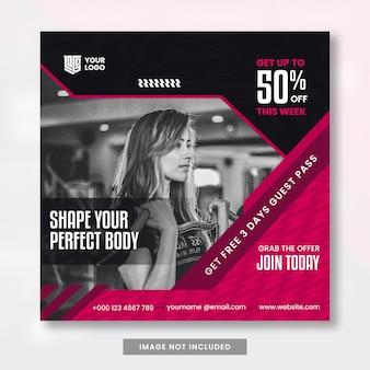 Fitness social media postontwerp