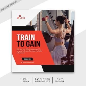 Fitness sociale media plaatsen
