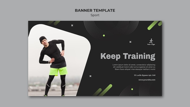 Fitness training sjabloon banner