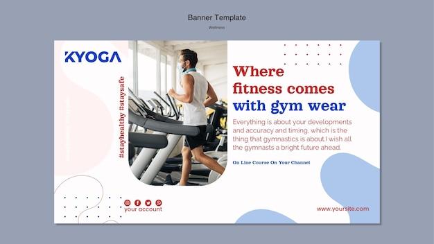 Fitness wellness-banner