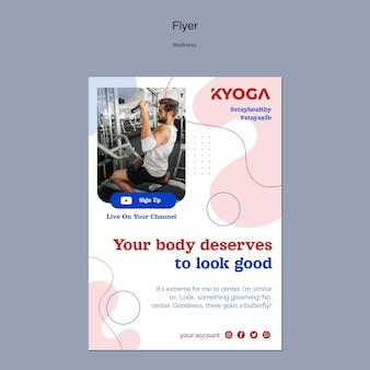 Fitness wellness-flyer