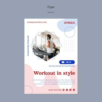 Fitness wellness verticale flyer