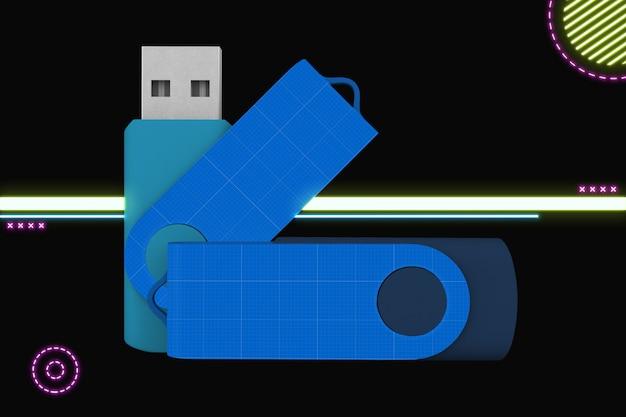 Flash-geheugen mockup