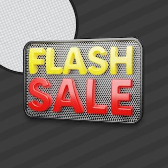 Flash sale 3d render
