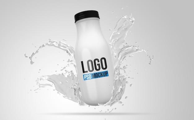 Fles 3d rendering mockup ontwerp