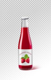 Fles aardbeiensap ontwerpmodel