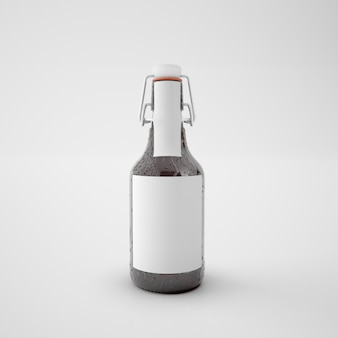 Fles met blanco etiket